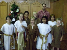 My class getting ready for Christmas pageant